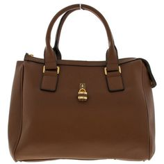 ALYA BROWN HANDBAG (125 VEF) ❤ liked on Polyvore featuring bags, handbags, brown purse, brown handbags and brown bag