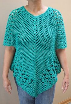 Good Cost-Free Crochet poncho top Ideas Crochet Poncho Top Pattern, Poncho Top Pattern, Crochet Poncho with sleeves, Crochet Poncho Pattern Crochet Poncho With Sleeves, Crochet Poncho Patterns, Crochet Blouse, Crochet Stitches, Crochet Hooks, Crochet Top, Double Crochet, Blouse Patterns, Free Crochet