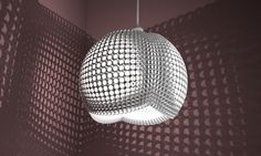 3d printed lampshade by studioluminaire
