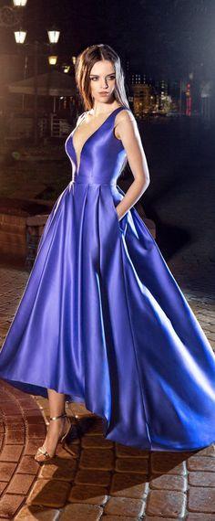 Fantastic Satin Jewel Neckline Hi-lo A-Line Prom Dresses With Beadings