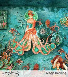Octopus Garden diorama, Voyage Under the Sea, Maggi Harding, Graphic 45
