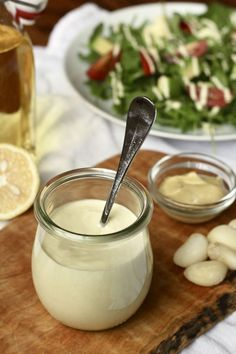 Creamy Mock Caesar Salad Dressing {Vegan, Whole30}