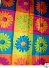 ~CRAZY DAISY~Blue Green Flower Fabric SHOWER CURTAIN NW