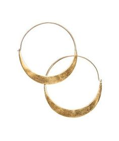 Gold-Plated Earrings by Julie Collection, $48