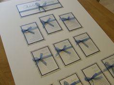 Smokey Blue ribbon with White Micah Kaleidscope Wedding Table Planner, Wedding Planning, Vintage Glamour Wedding, Samantha Wedding, Wedding Abroad, Wedding Stationary, Table Plans, Wedding Inspiration, Wedding Ideas