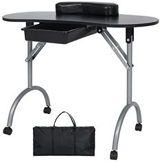 Best Choice Products Portable Manicure Table Work Station W/ Carrying Bag *** For more information, visit image link. (This is an affiliate link and I receive a commission for the sales) #NailArtAccessories
