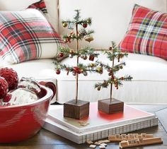 Add holiday cheer to your home with Pottery Barn's Christmas decorations, ornaments and lights. Pottery Barn has everything you need to put you in the Christmas spirit. Christmas Gifts For Women, Noel Christmas, Christmas Crafts, Christmas Ornaments, White Christmas, Christmas 2019, Christmas Stockings, Tartan Christmas, Simple Christmas
