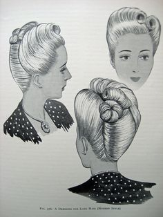 Vintage Hairstyle... i love those hairstyles and wish i could do them!