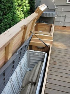 Built - in bench with storage - Patio Furniture And Outdoor Furniture