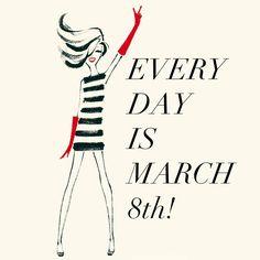 Hoy es el Día Internacional de la Mujer, una jornada para la lucha por la igualdad y el respeto: http://www.un.org/es/events/womensday/history.shtml