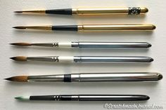 Reviews & comparisons of various travel pocket brushes for watercolor - scratchamadejournal.com