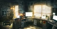 Office Days - Concept art, Digital paintingsCoolvibe – Digital Art