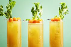 Golden Sunset - this Bloody Mary ditches traditional bottled tomato juice for the freshly pressed stuff made from Sun Gold or yellow tomatoes. :  epicurious