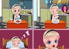 JuegosElsa.com - Juego: Alergia de Elsa - Minijuegos de la Princesa Elsa Frozen Disney Jugar Gratis Online