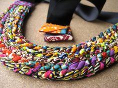 Ankara inspired necklace