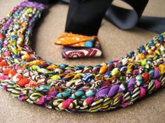 Ankara inspired necklace