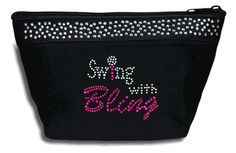 Bling Make-Up Bags - Customize these make-ups bags with your tournament logo or theme in rhinestones. Available in several different sizes.
