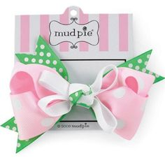 Green Knot Hair Bow by Mud Pie