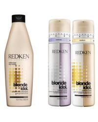 June sees the launch of Redken's new Blonde Idol range. The line utilises Redken's Kera-Bright system with kerabond, violet leaf extract and lactic acid to boost shine and preserve tone. The collection comprises of three new specialised treatments: Redken Blonde Idol Sulfate-Free Shampoo (£13.25), and two Redken Blonde Idol Custom-Tone Treatments, one for cool platinum blonde tones and another for rich golden blondes (£17.30 each)