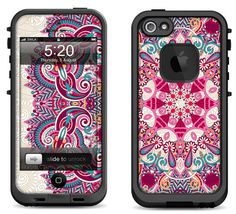 Lifeproof iPhone 5 Case Decal Skin Cover Floral by skunkwraps, $9.95 I will be getting an iPhone5s soon..I will, and I want this case really bad!