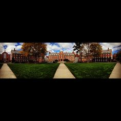 """@Smith College's photo: """"#fall in the quad at #smithcollege #panoramic"""""""