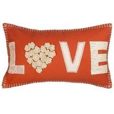 John Lewis Love Cushion, Orange by simone