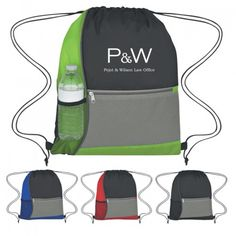 Don't miss Free Rush on Promotional Color Block Sports Pack Drawstring Bags.  Get now!   #24HourRush   #DrawstringBags #CustomBags