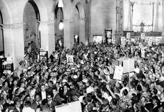 John F. Kennedy surrounded by fans inside the Biltmore Hotel in downtown Los Angeles in 1960. This image is part of LA Times Framework's great series of photos of #JFK in Los Angeles.