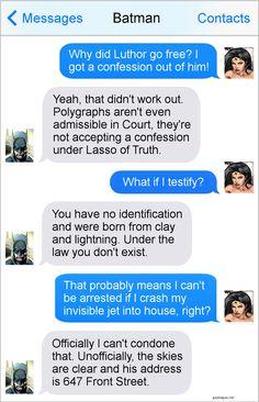 #Hilarious Text Message By Batman