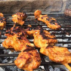 Chicken Tikka skewers #BBQ #chicken