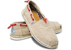 For that one summer day you're feelin' a bit nautical. TOMS Burlap Women's Bimini Stitchouts