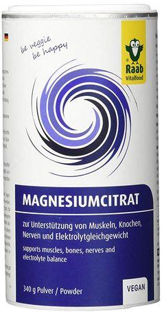 Raab Vitalfood Magnesiumcitrat Pulver 340 g vegan laborgeprüft gut zu dosieren ideal für Sportler zur Unterstützung von Muskeln Knochen Nerven Elektrolyt-Haushalt - 13.99 - 4.4 von 5 Sternen - Vegan Supplements - Vitamine & Co Vegan, Athlete, Household, Vegans