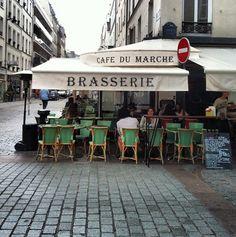 Cafe du Marche - on Rue Cler and Av. du Champ de Mars,  in the 7eme. (CW20-3)