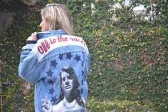 Lana Del Rey vintage denim oversized custom jacket