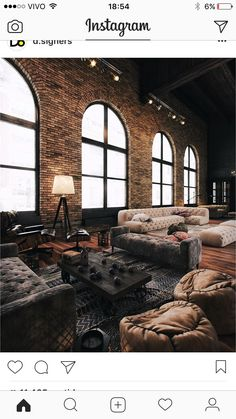 Cabin Fever | Arch windows, Brickwork and Beams