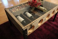 Awesome Coffee Table with Wine Display made by RYOBI NATION member RileyMeisch. Check out more pictures and ideas for Valentine's Day on RYOBI Nation.