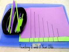 Teaching 3 Year Olds: Everyday Math Play in Preschool! Measurement Activities, Preschool Learning Activities, Toddler Learning, Preschool Classroom, In Kindergarten, Fun Learning, Preschool Activities, Family Activities, Preschool Worksheets