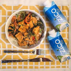 'I'm trying to lighten up my recipes this summer, so I made my famous coconut curry with @ZICOcoconut water instead of heavy coconut milk! It was delicious, healthy and satisfying!' via @everythingerica