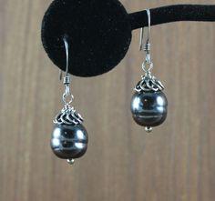 Baroque Black Pearl earrings  Black Sails inspired by KLFStudio
