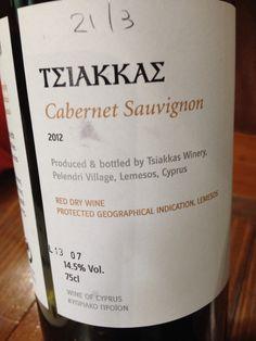 #TerroirCyprus #Tsiakkas #Winery #CabernetSauviignon #Troodos Mountain