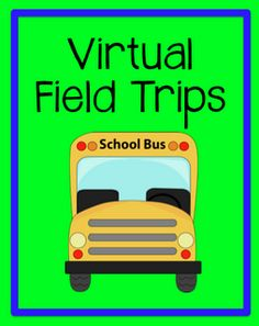 Field Trips Virtual field trip links and FREE printables. even great for an afternoon with the grandchildren.Virtual field trip links and FREE printables. even great for an afternoon with the grandchildren. Classroom Fun, Future Classroom, Classroom Activities, Classroom Organization, Classroom Management, Google Classroom, Vocabulary Activities, Library Activities, History Classroom