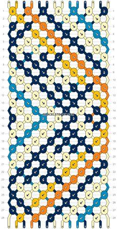 Normal pattern #34499 | BraceletBook String Bracelet Patterns, Diy Bracelets Patterns, Thread Bracelets, Embroidery Bracelets, Friend Bracelets, Bracelet Designs, Handmade Bracelets, Hemp Bracelets, Pulseras Kandi