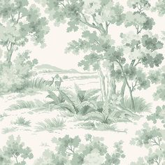 Depicting the most tranquil of scenes, Countryside Morning is the epitome of interior artwork. Classic Wallpaper, A N Wallpaper, Magic Forest, Pip Studio, Patterns In Nature, William Morris, Continents, Countryside, Discovery