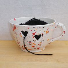 Yarn bowl knitting or crochet handthrown pottery