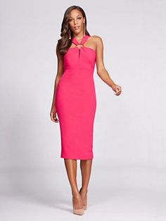 New York & Co. Gabrielle Union Collection - V-Neck Sheath Dress