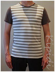 Men t-shirt, Sporty Stripes Ottobre 3/2015