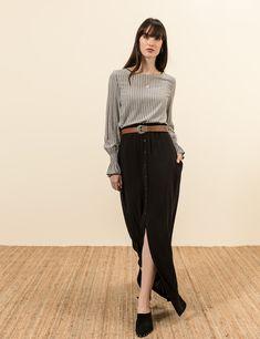 Μακρυά φούστα κουμπιά | Mindyourstyle.gr