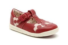Girls Shoes - ElodieLove Fst in Red Leather from Clarks shoes
