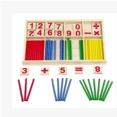 Learning Education Math Stick toys set Mathematical Intelligence Stick Building Blocks Math Toy Gift Games Toys for Kids