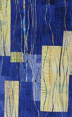 Carol Taylor Rhythm & Blues  32 x 50 sold   Fine line work to create a figure ground relationship is the basis of this design, creating layers.